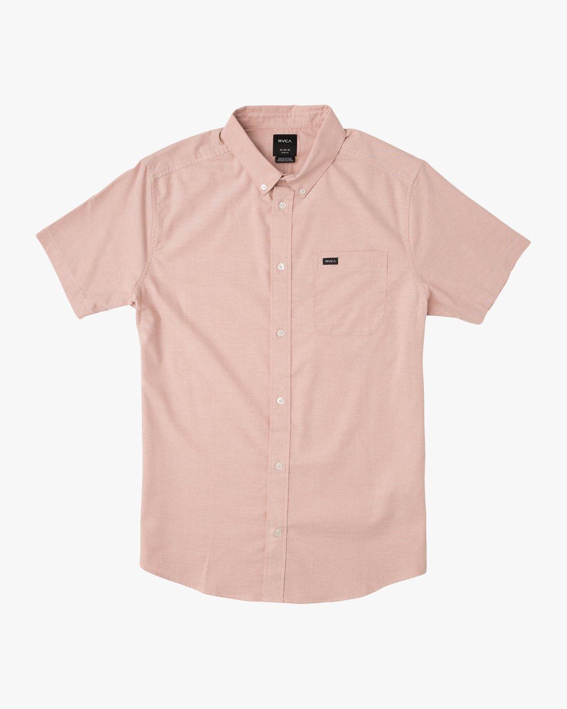 0 Boy's That'll Do Stretch Short Sleeve Shirt Brown B510QRTS RVCA
