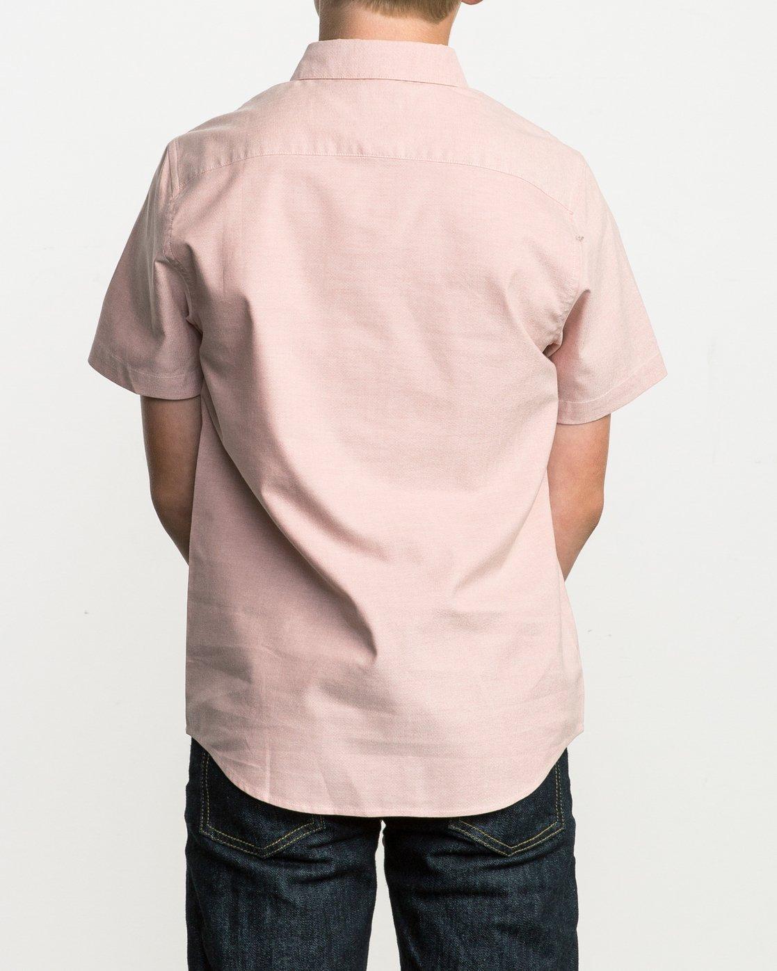 3 Boy's That'll Do Stretch Short Sleeve Shirt Brown B510QRTS RVCA
