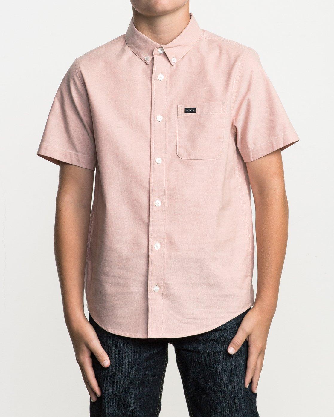 1 Boy's That'll Do Stretch Short Sleeve Shirt Brown B510QRTS RVCA