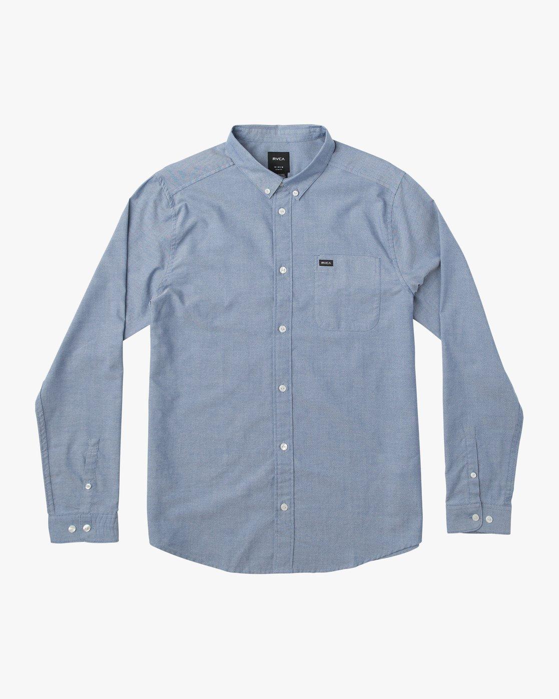 New RVCA That/'ll Do LS Oxford Shirt White