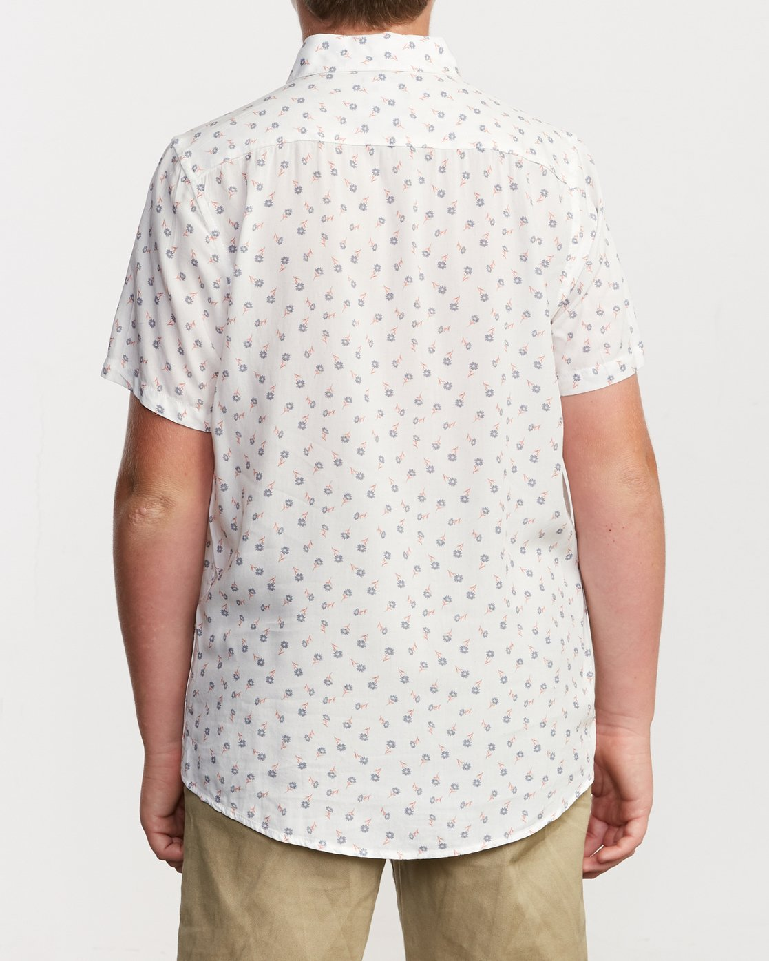 3 Boy's Prelude Floral Shirt White B511VRPF RVCA
