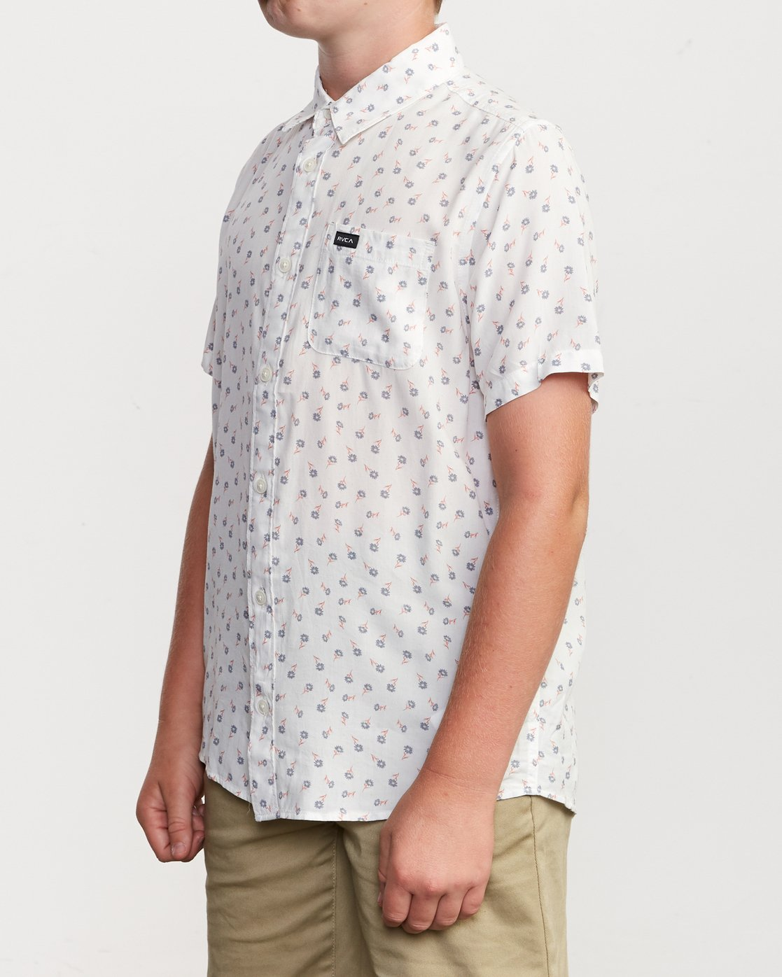 2 Boy's Prelude Floral Shirt White B511VRPF RVCA
