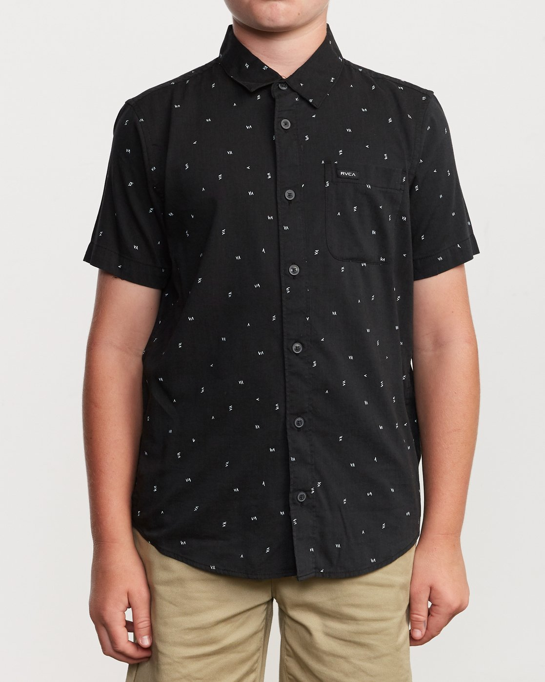 1 Boy's VA Little Buds Shirt Black B514VRVL RVCA