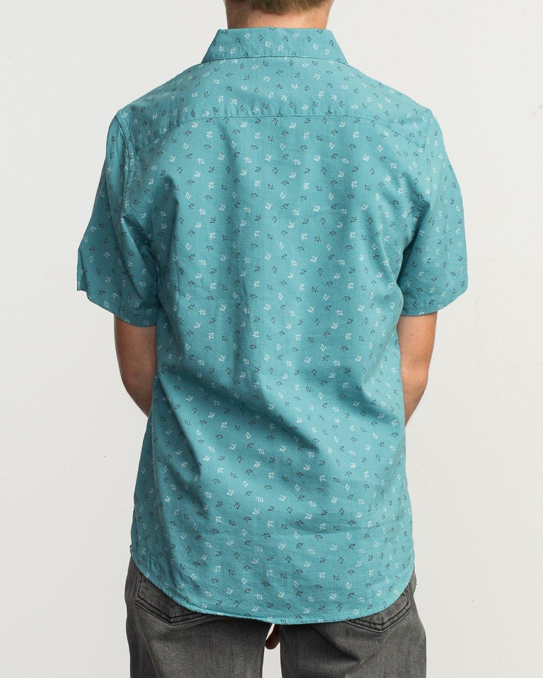 3 Boy's Jah Va Shirt Blue B519TRJV RVCA