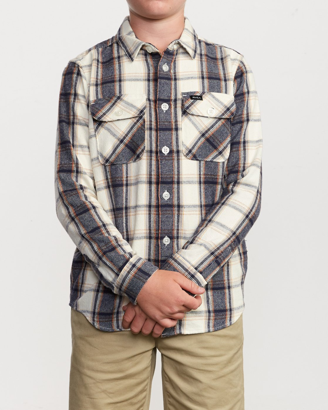 1 Boy's That'll Work Flannel Silver B519VRWF RVCA
