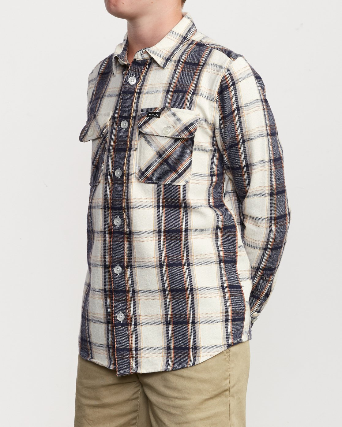 2 Boy's That'll Work Flannel Silver B519VRWF RVCA