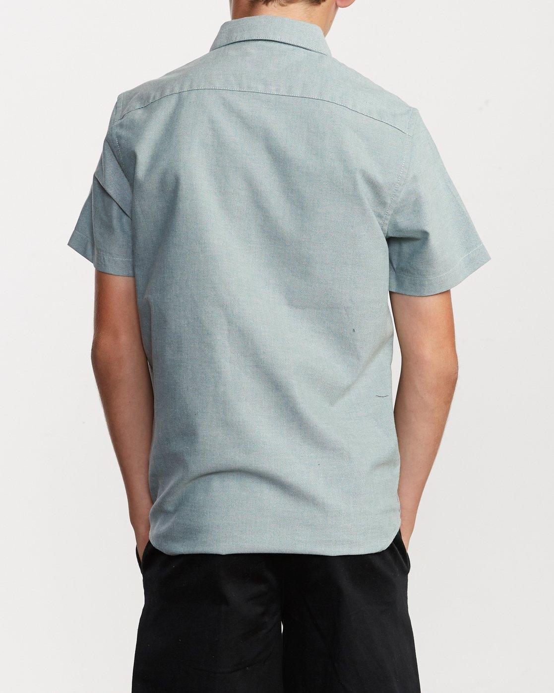 3 Boy's That'll Do Stretch Short Sleeve Shirt Grey B525TRTS RVCA