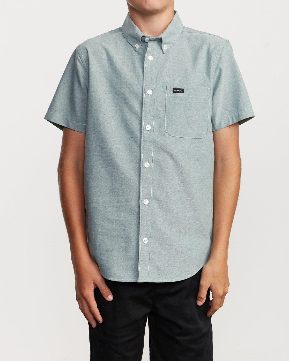 1 Boy's That'll Do Stretch Short Sleeve Shirt Grey B525TRTS RVCA