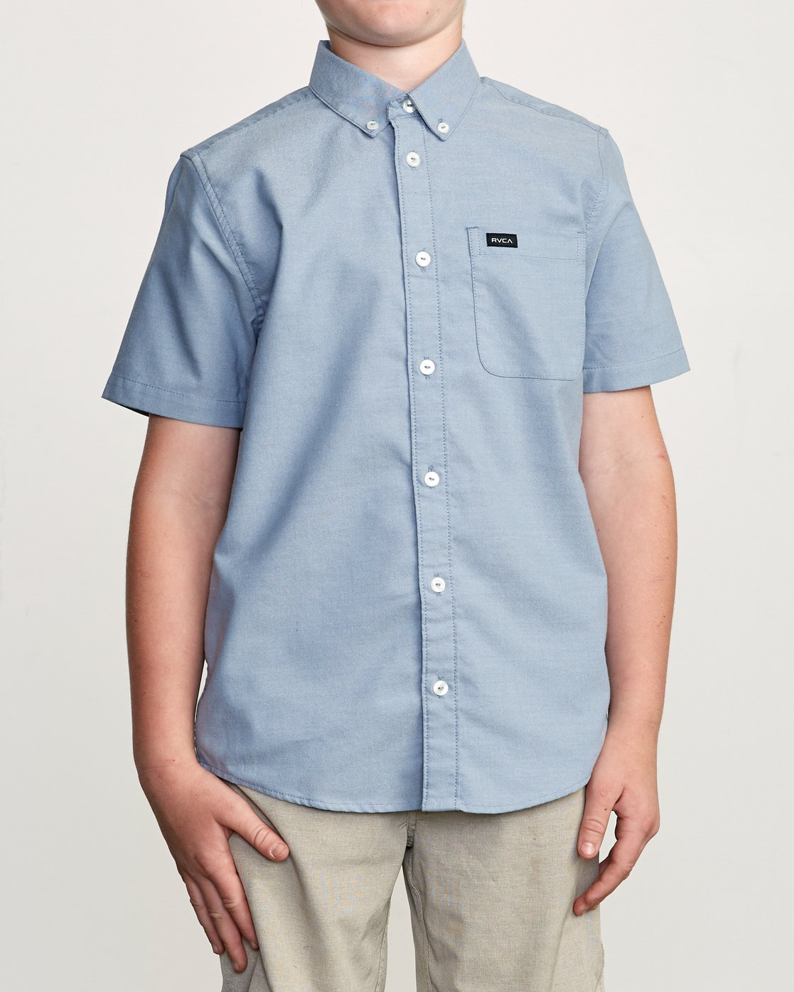1 Boy's That'll Do Stretch Short Sleeve Shirt Blue B525TRTS RVCA