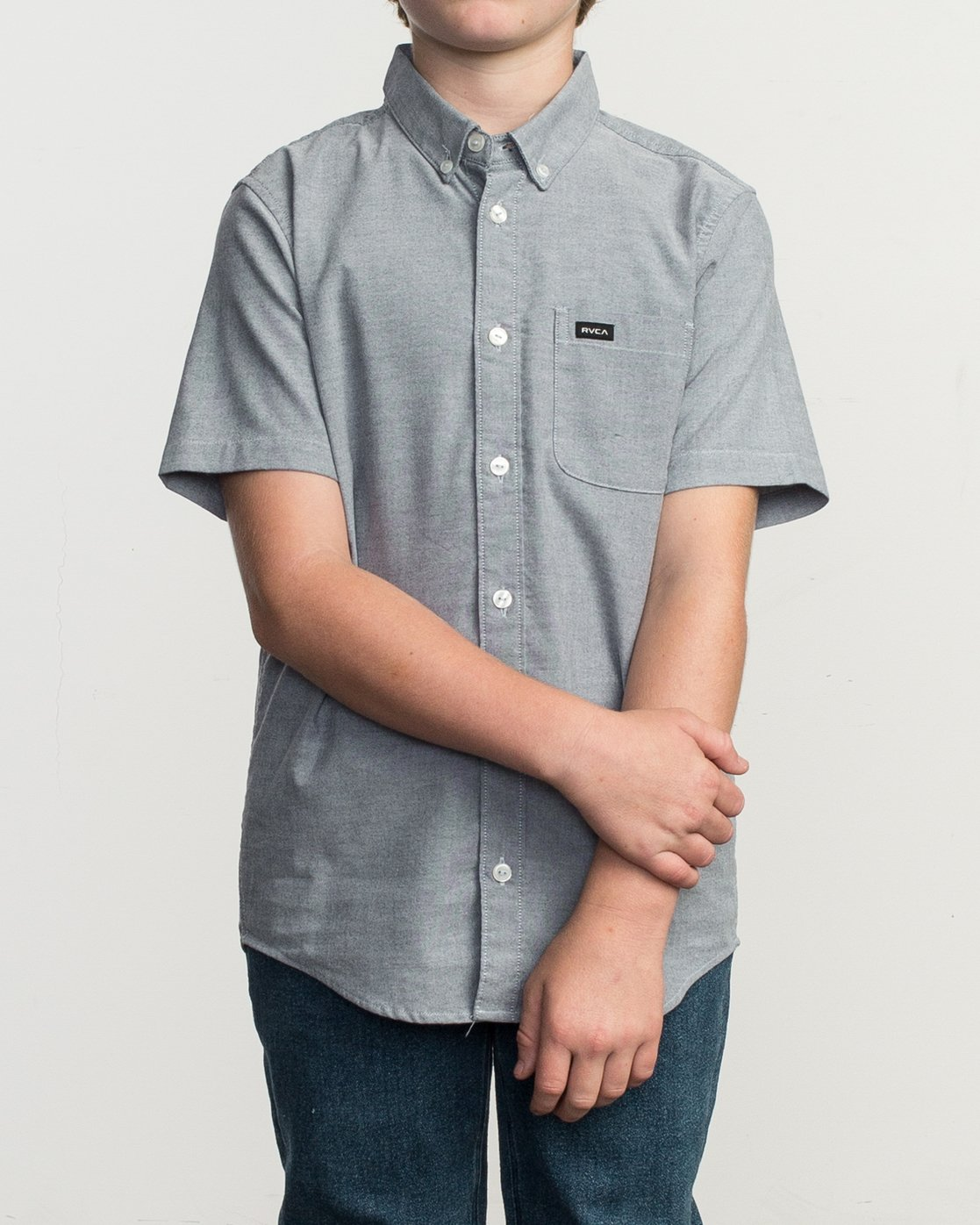 1 Boys That'll Do Stretch Short Sleeve Shirt Blue B525TRTS RVCA