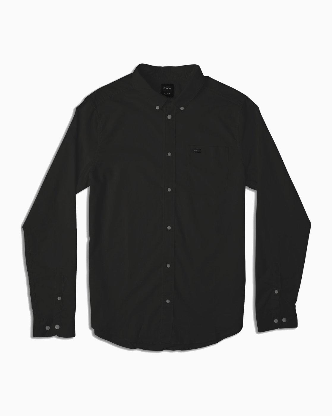 0 Boy's That'll Do Stretch Long Sleeve Shirt Black B526TRTL RVCA