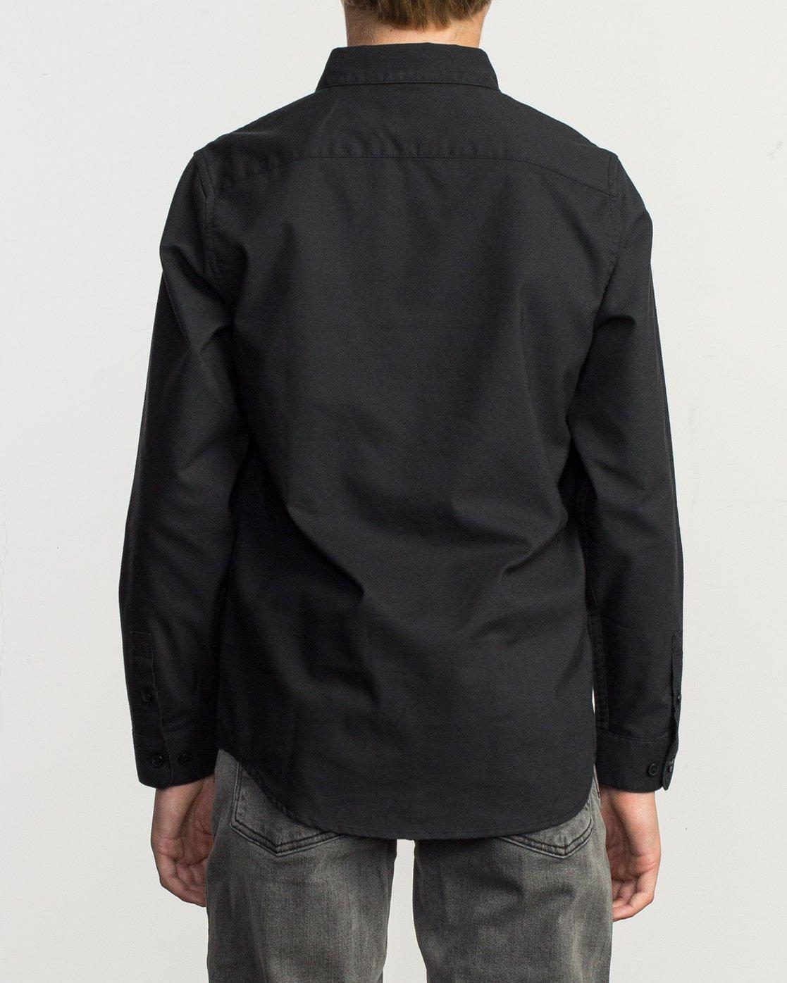 3 Boy's That'll Do Stretch Long Sleeve Shirt Black B526TRTL RVCA
