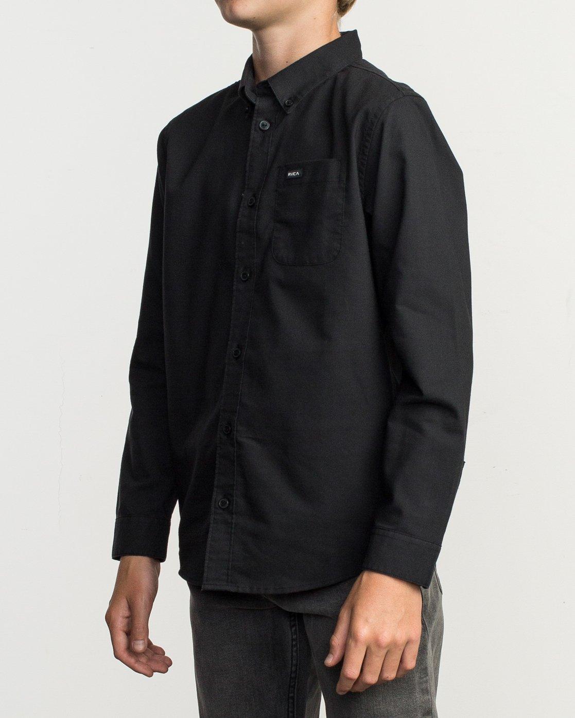 2 Boy's That'll Do Stretch Long Sleeve Shirt Black B526TRTL RVCA