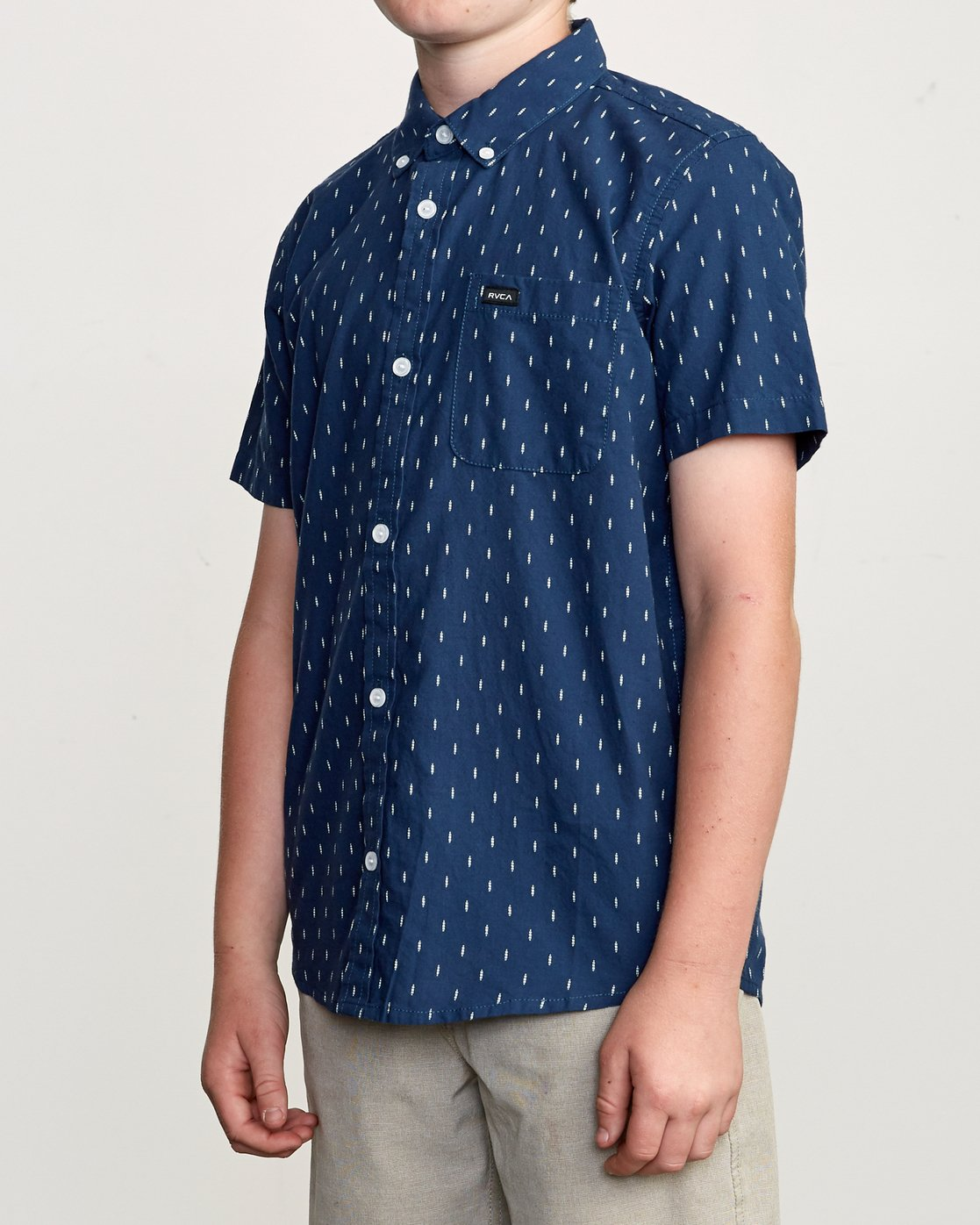 2 Boy's That'll Do Hi Grade II Shirt Blue B552URTH RVCA