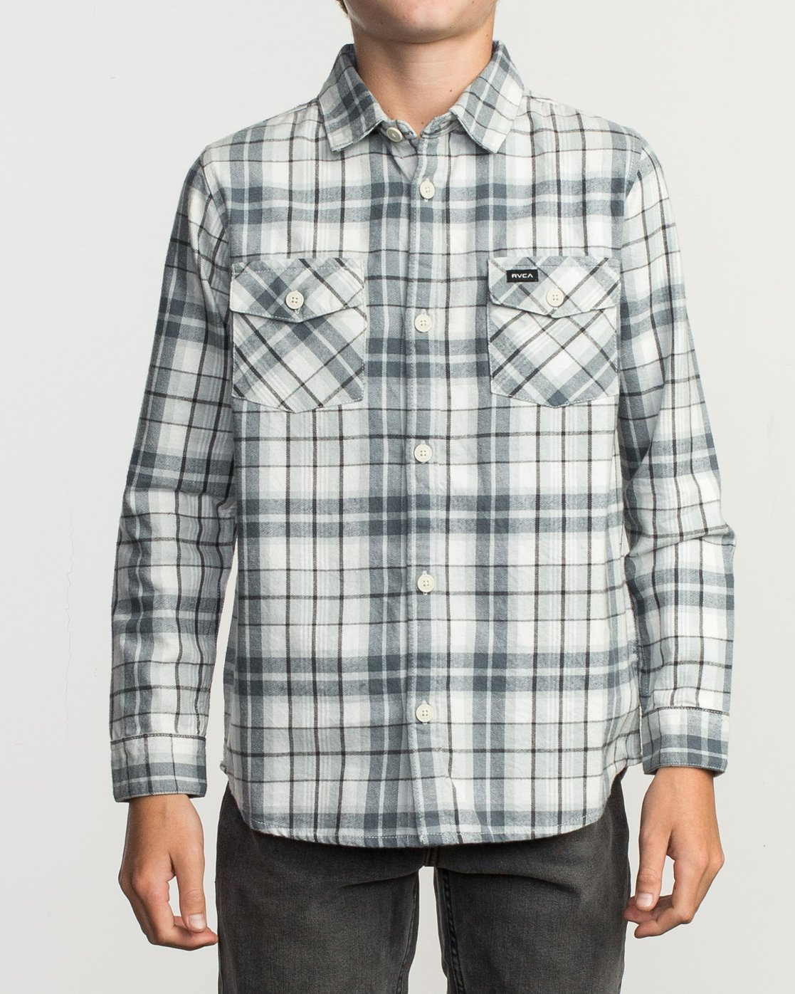 1 Boy's Watt Flannel Shirt Multicolor B553TRWF RVCA