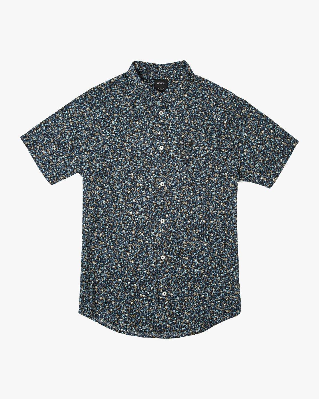 0 Boy's Revivalist Floral Button-Up Shirt Blue B556URRF RVCA