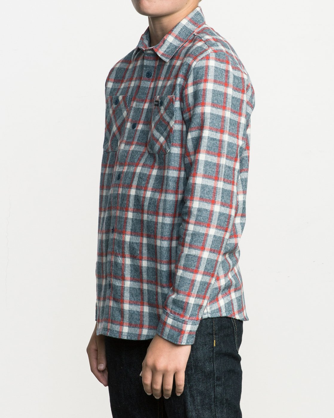 2 Boy's Hero Plaid Flannel  B557SRHE RVCA