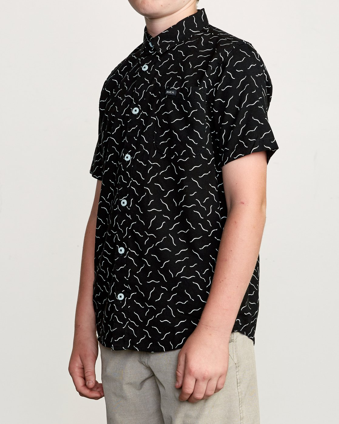 2 Boy's ANP Pack Button-Up Shirt Black B561URPP RVCA