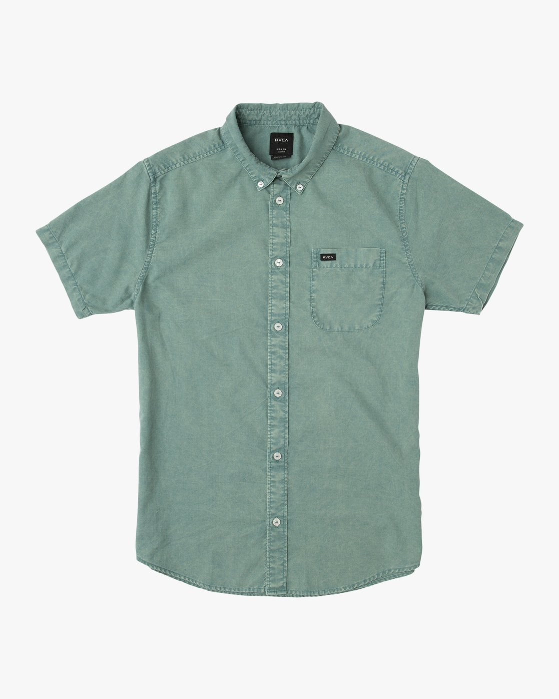 0 Boy's That'll Do Washed Button-Up Shirt Green B592SRTR RVCA