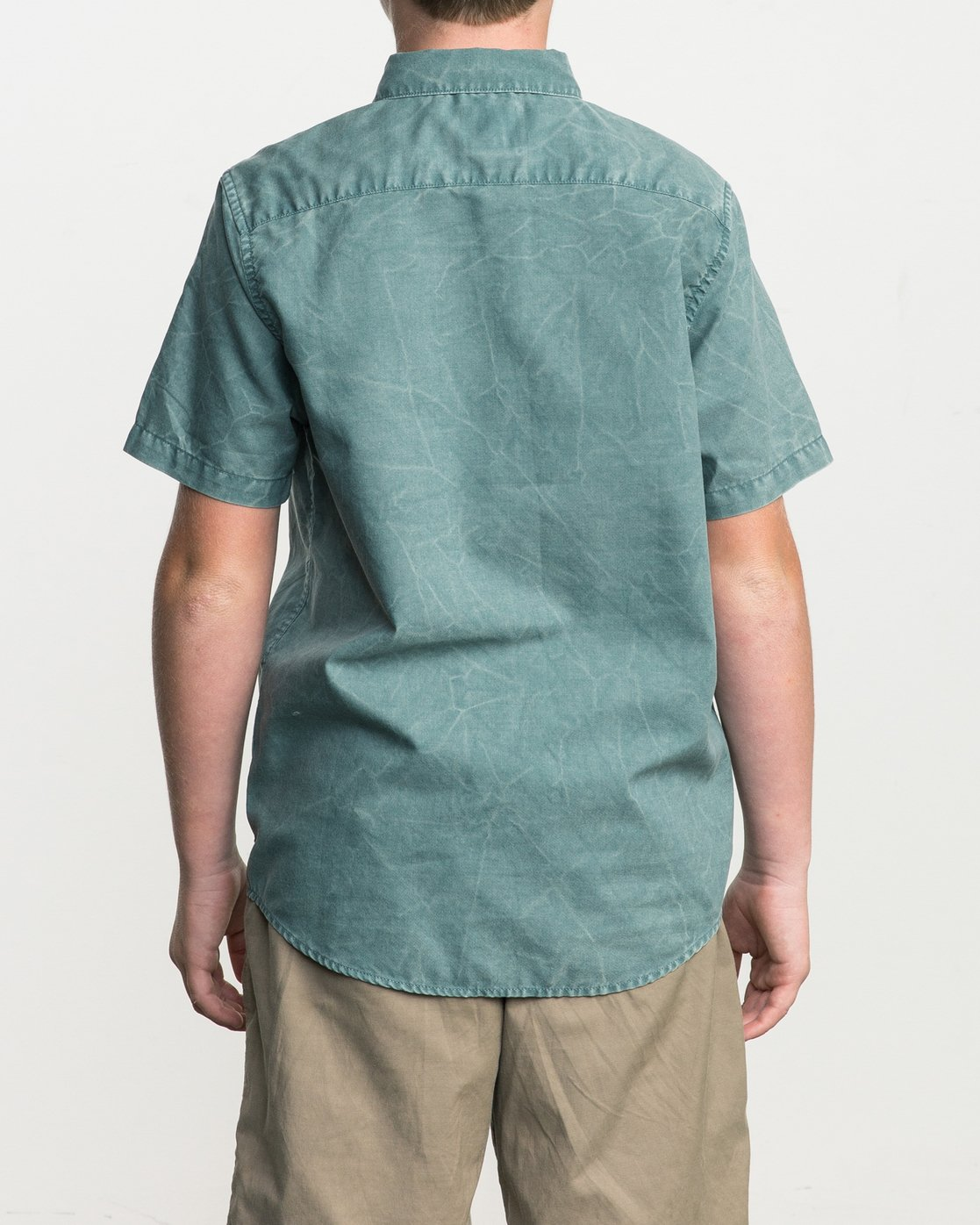 3 Boy's That'll Do Washed Button-Up Shirt  B592SRTR RVCA