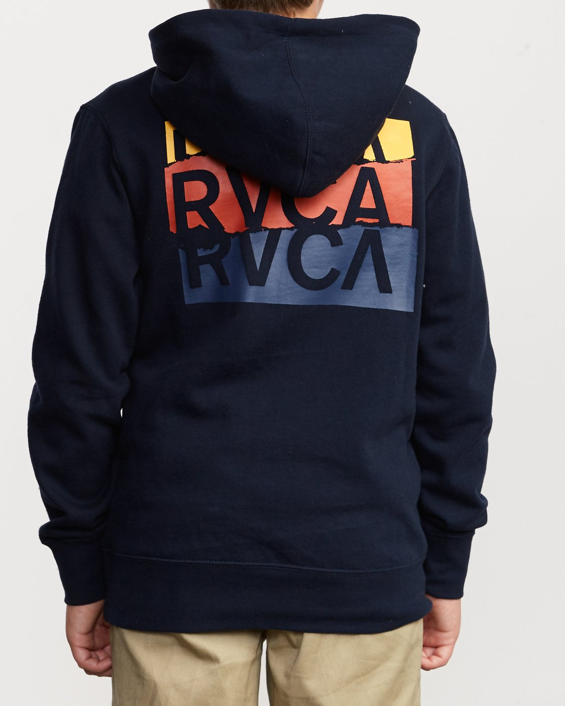 4 Boy's Warehouse Stack Hoodie Blue B601VRWA RVCA