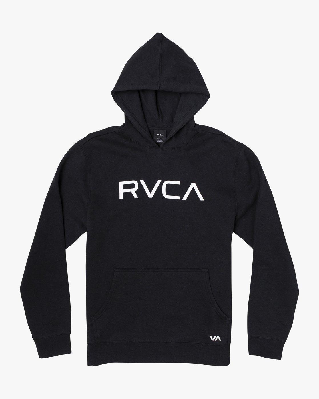 1 Boy's Big RVCA Hoodie Black B601WRBR RVCA