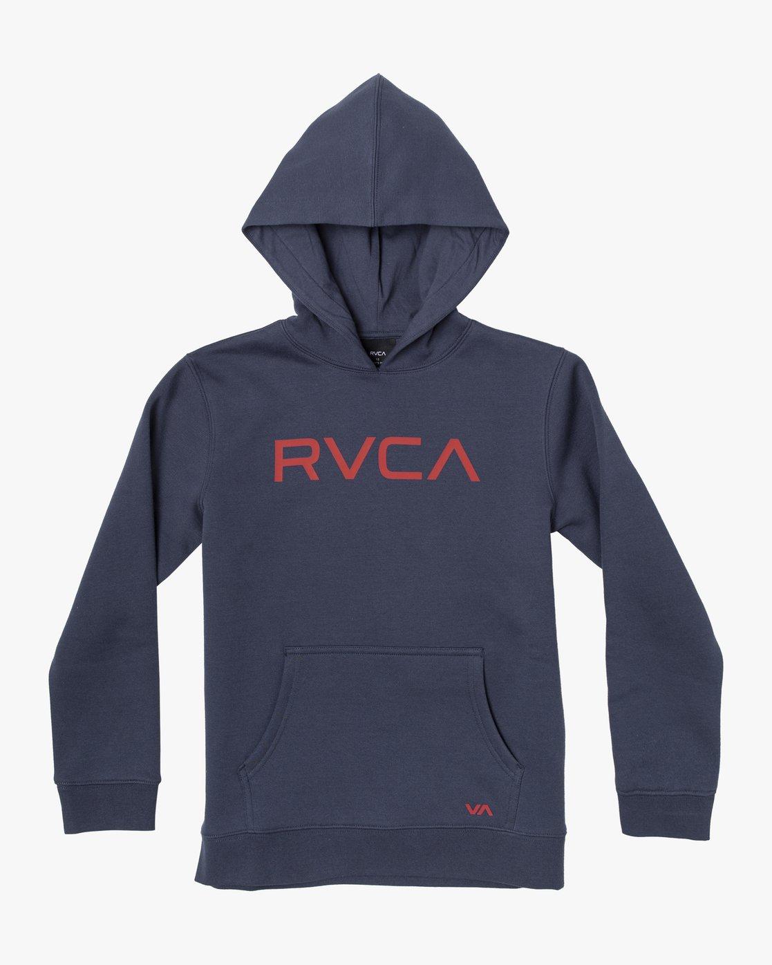 1 BIG RVCA HOODIE Blue B601WRBR RVCA