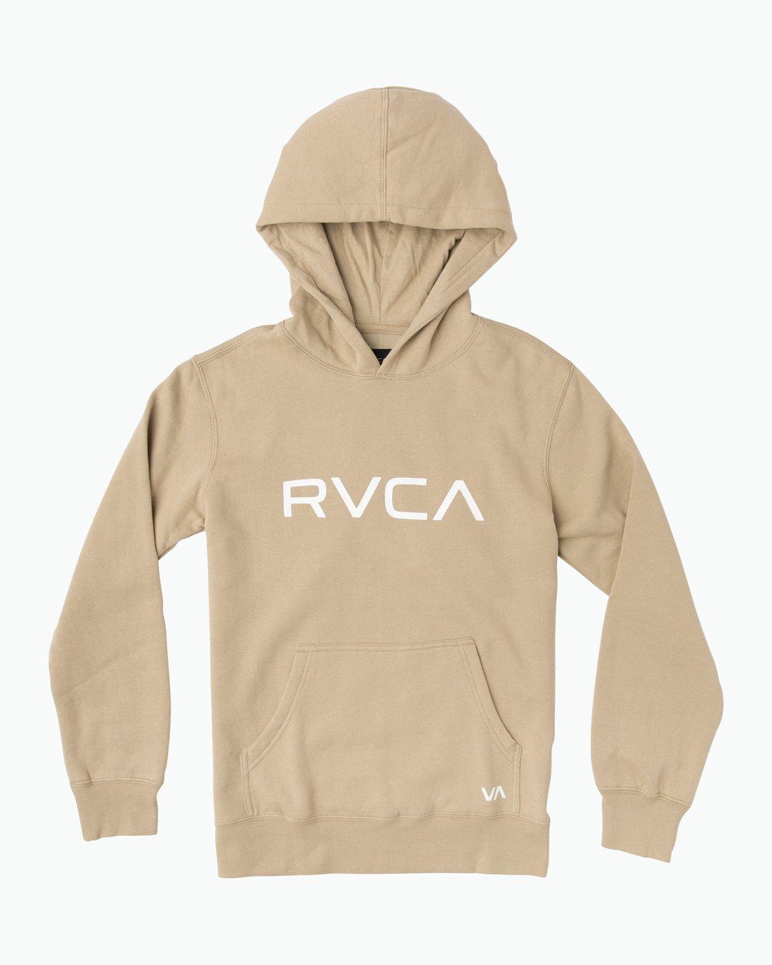 0 Boy's Big RVCA Po Hoodie Green B606QR0B RVCA