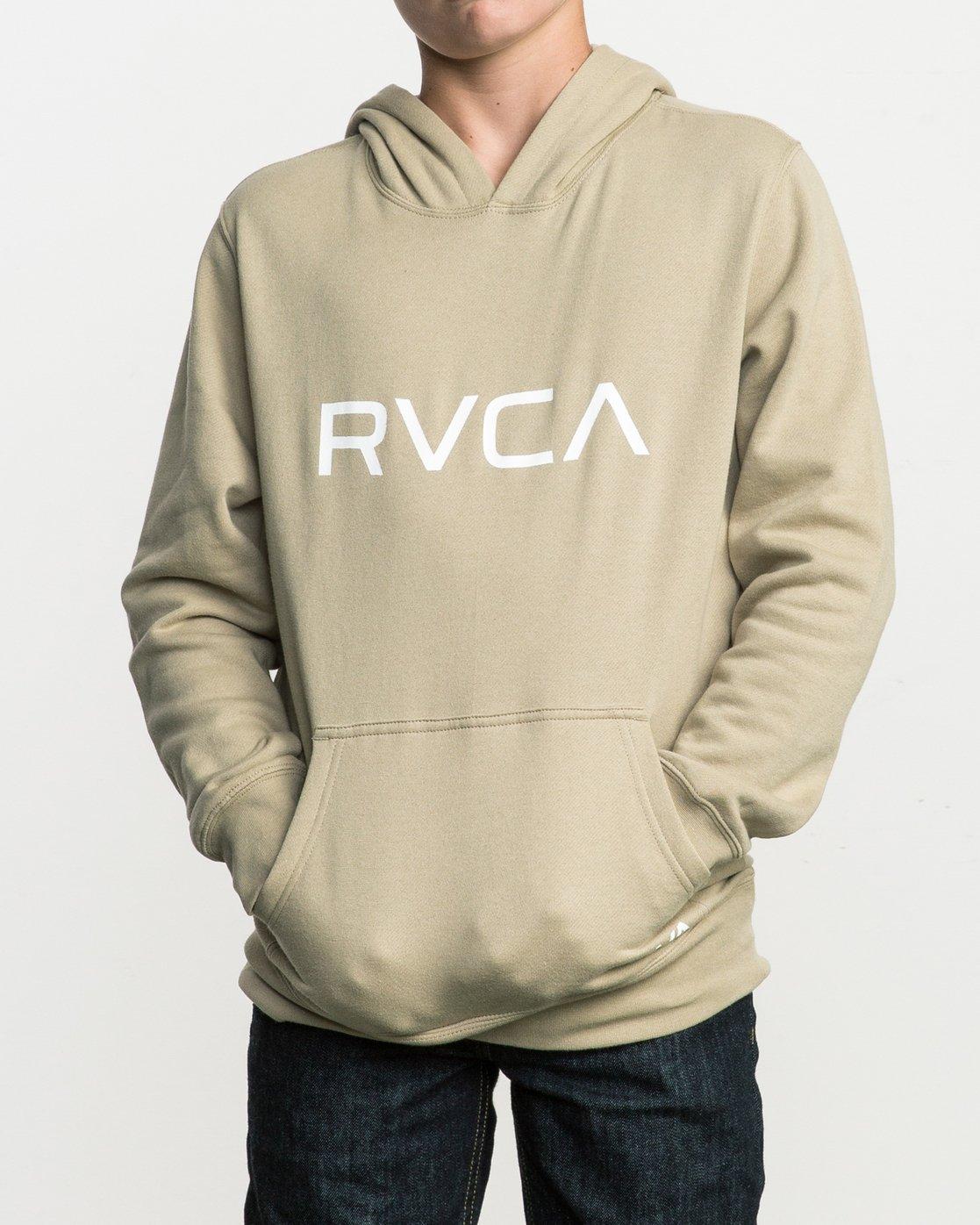 1 Boy's Big RVCA Po Hoodie Green B606QR0B RVCA