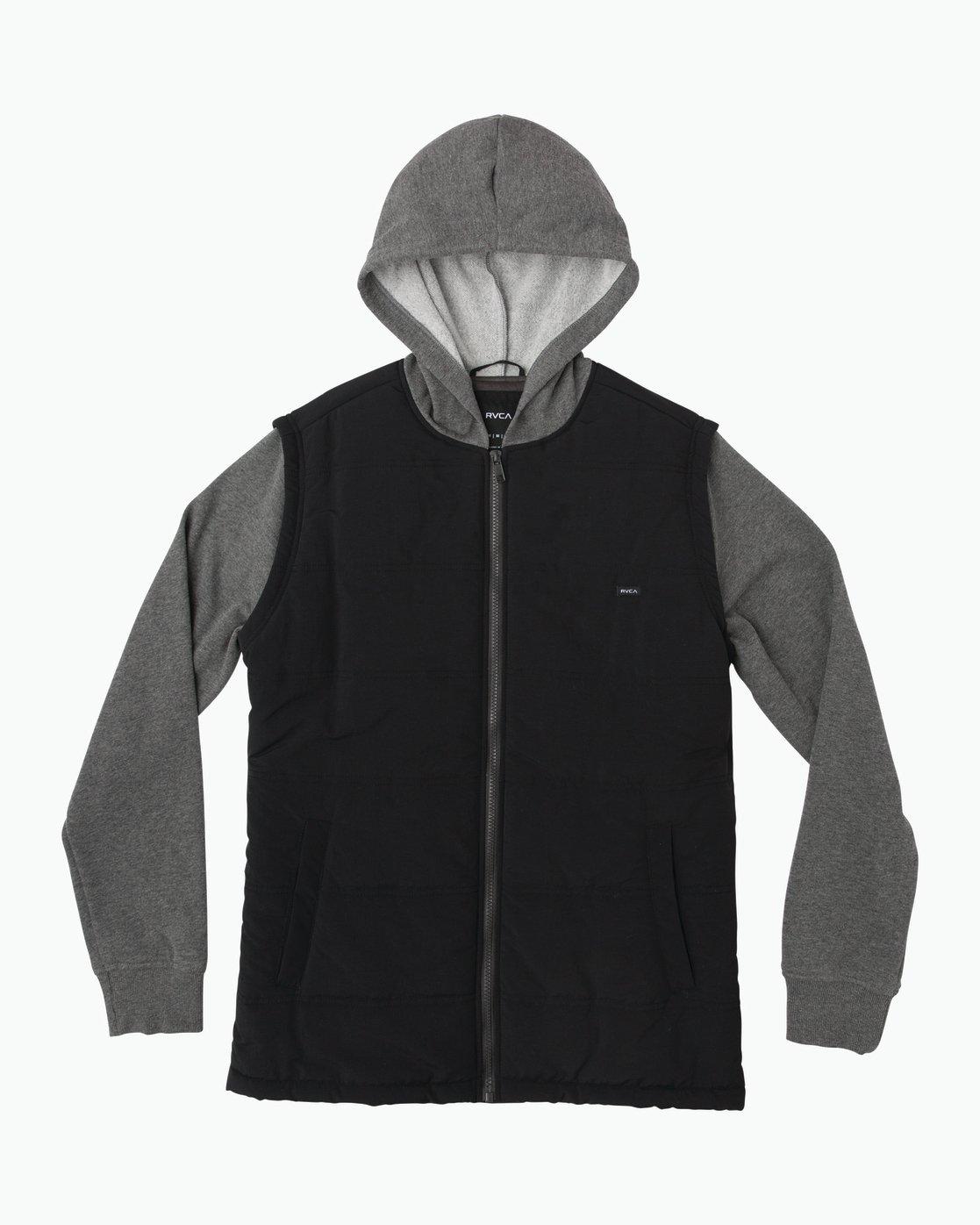 0 Boy's Logan Puffer Jacket Grey B606QRLG RVCA