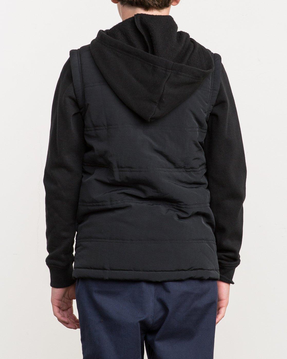 3 Boy's Logan Puffer Jacket Black B606QRLG RVCA