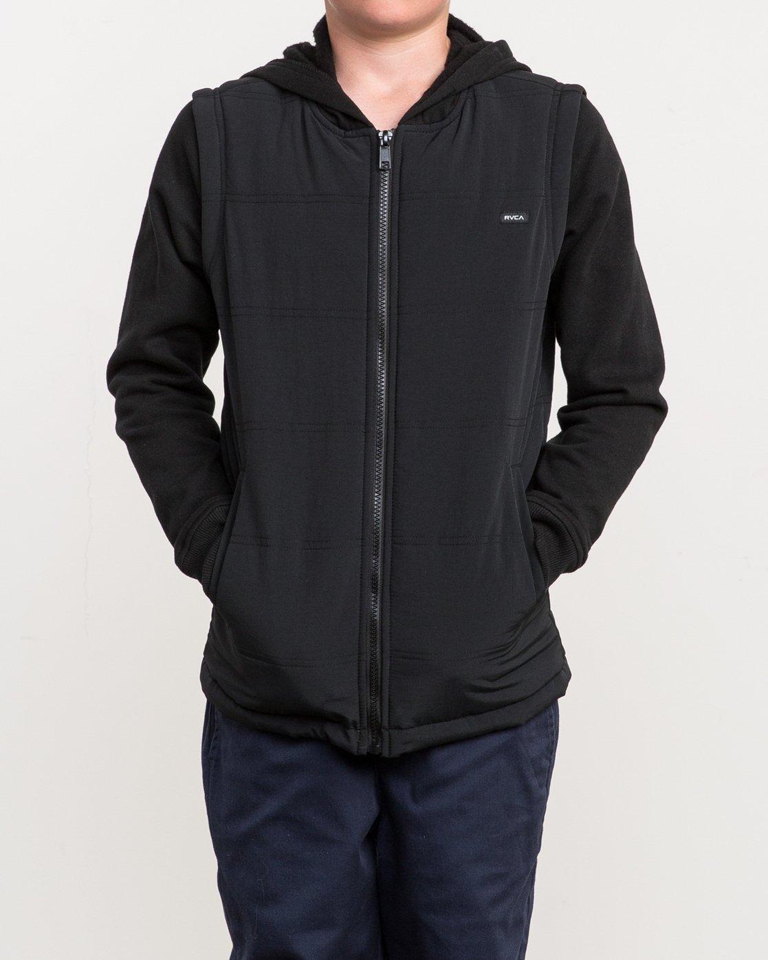 1 Boy's Logan Puffer Jacket Black B606QRLG RVCA