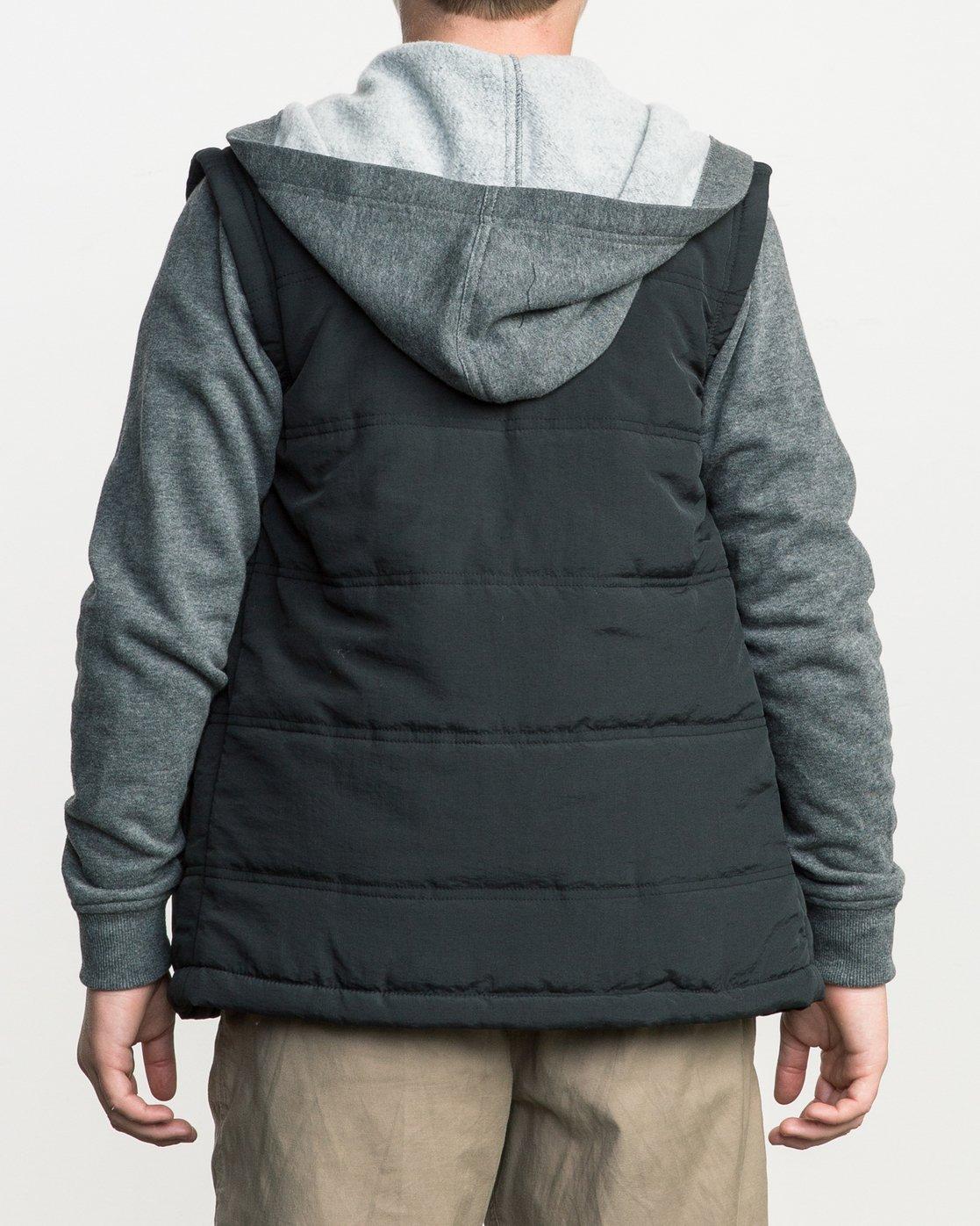 3 Boy's Logan Puffer Jacket Grey B606QRLG RVCA