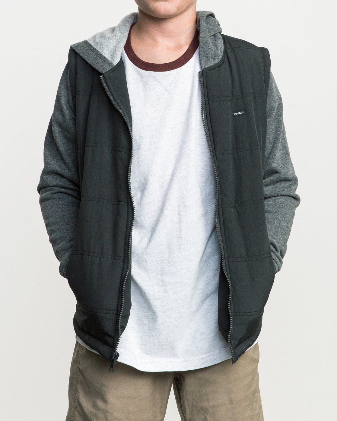 1 Boy's Logan Puffer Jacket Grey B606QRLG RVCA