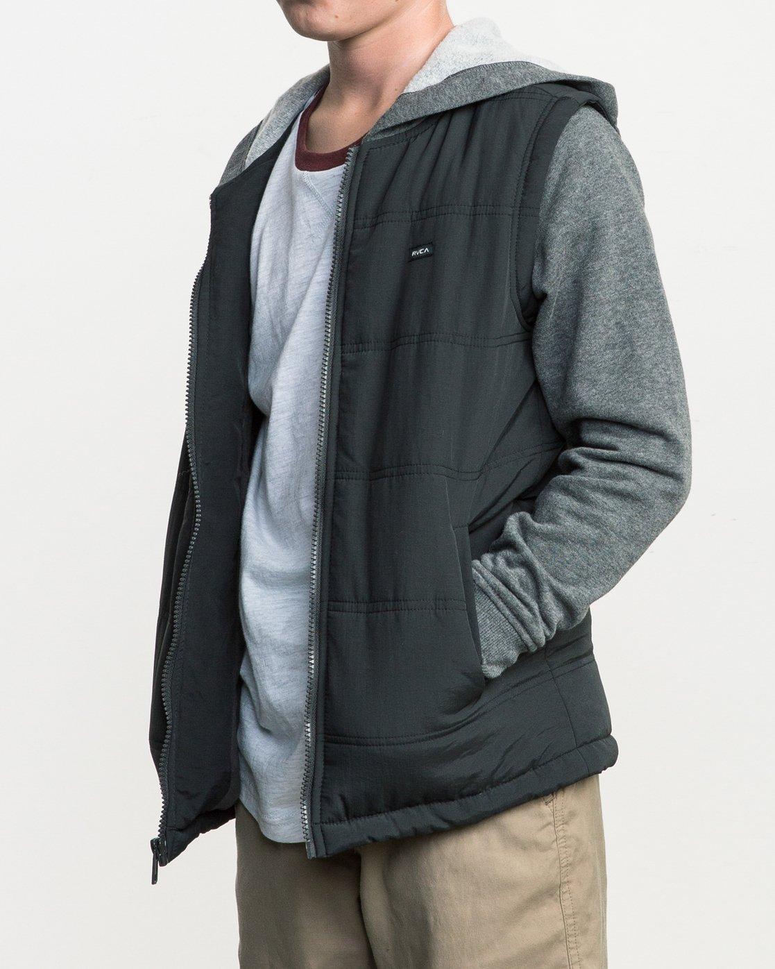 2 Boy's Logan Puffer Jacket Grey B606QRLG RVCA