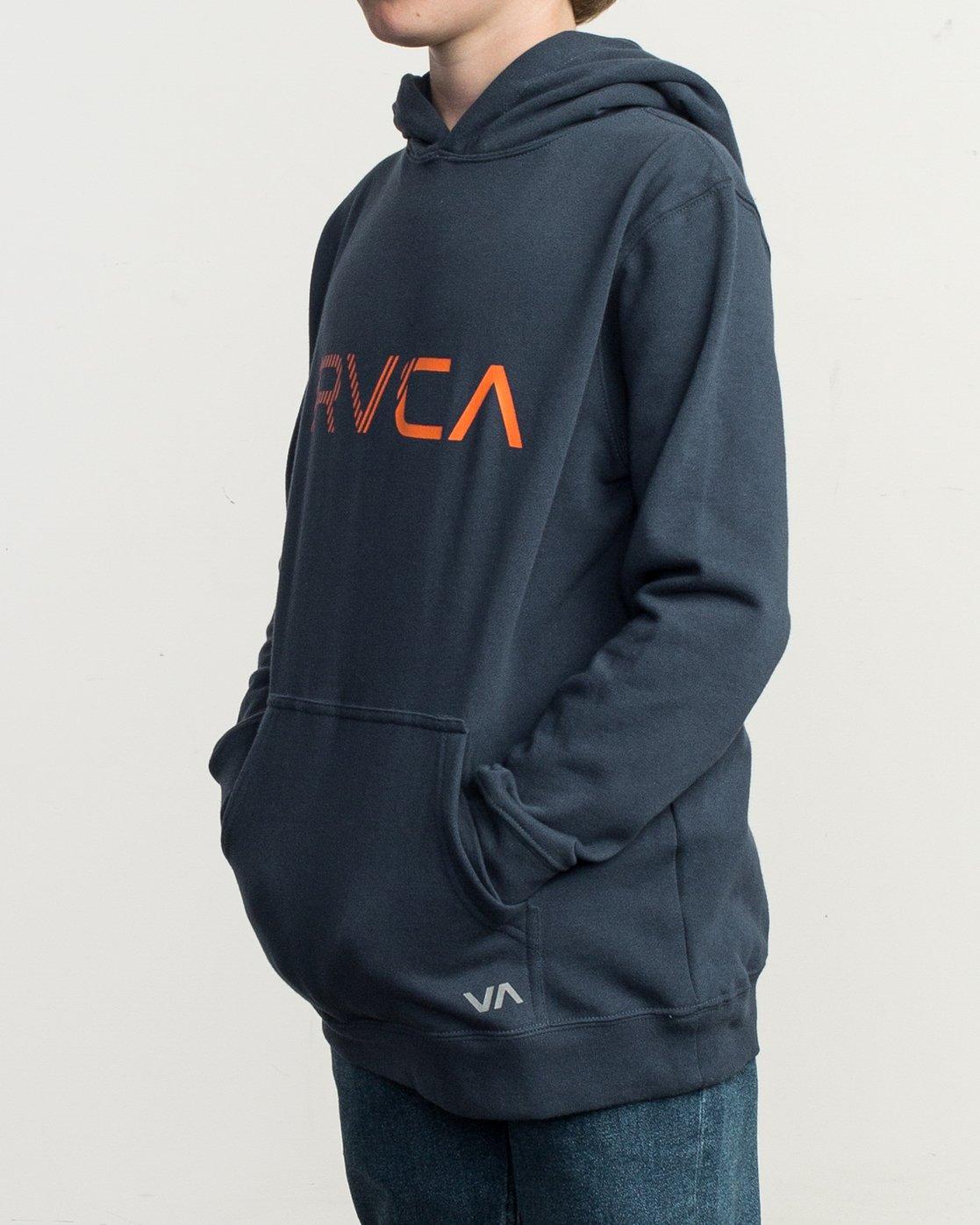 2 Boy's Scratched RVCA Hoodie Blue B624TRSC RVCA