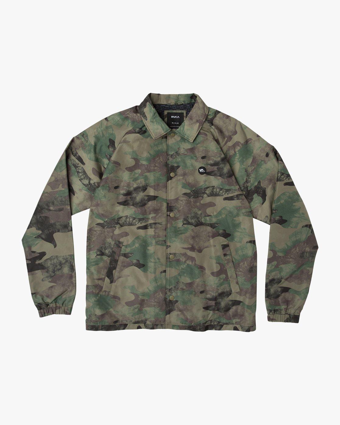 0 Boy's ATW II Coaches Jacket Green B701QRRA RVCA