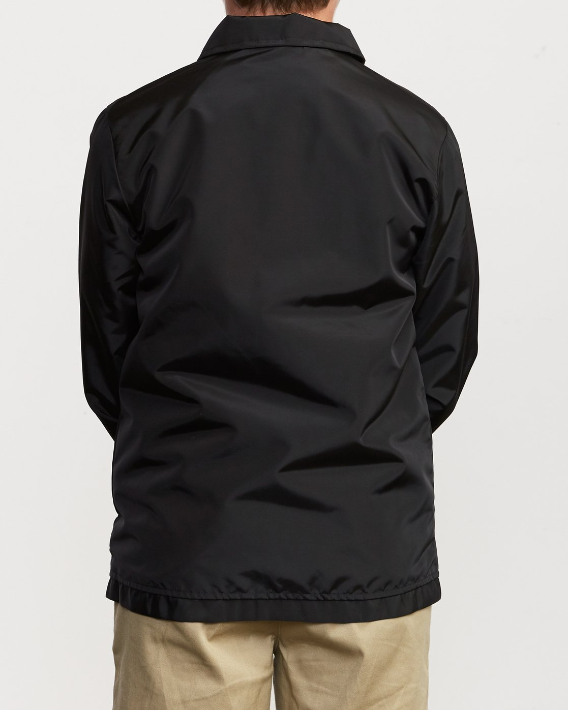 4 Boy's Berni Coaches Jacket Black B721VRBE RVCA