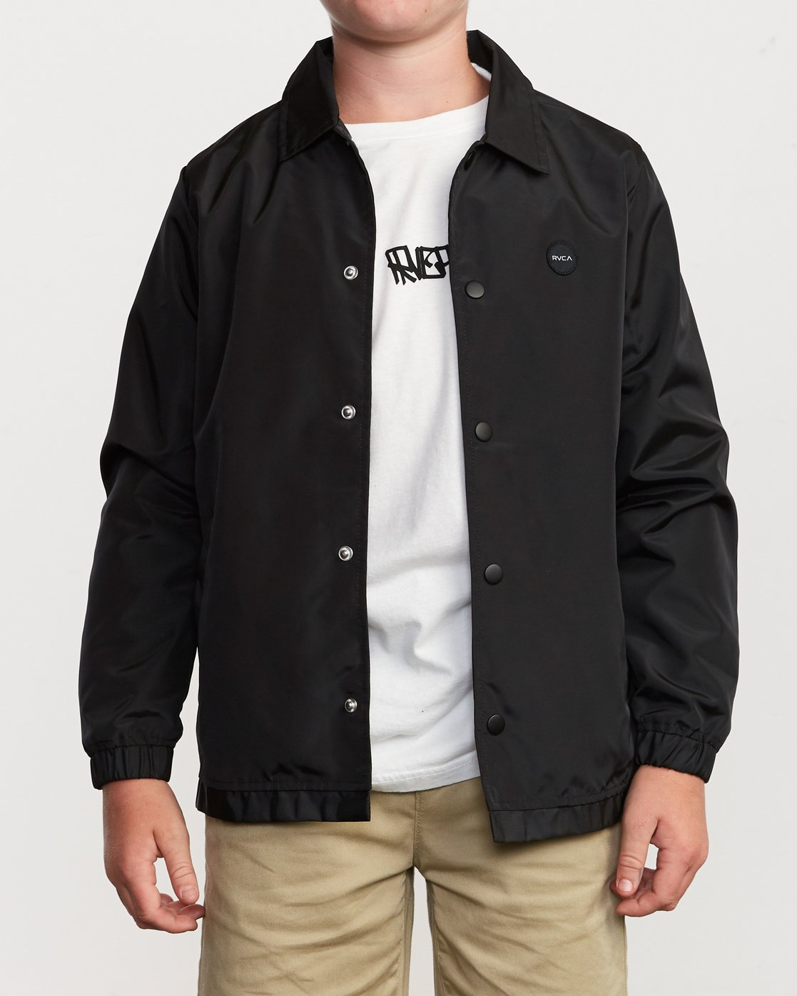 1 Boy's Berni Coaches Jacket Black B721VRBE RVCA