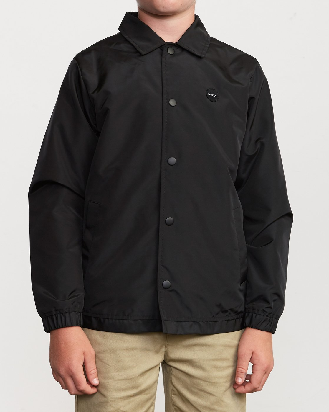 2 Boy's Berni Coaches Jacket Black B721VRBE RVCA
