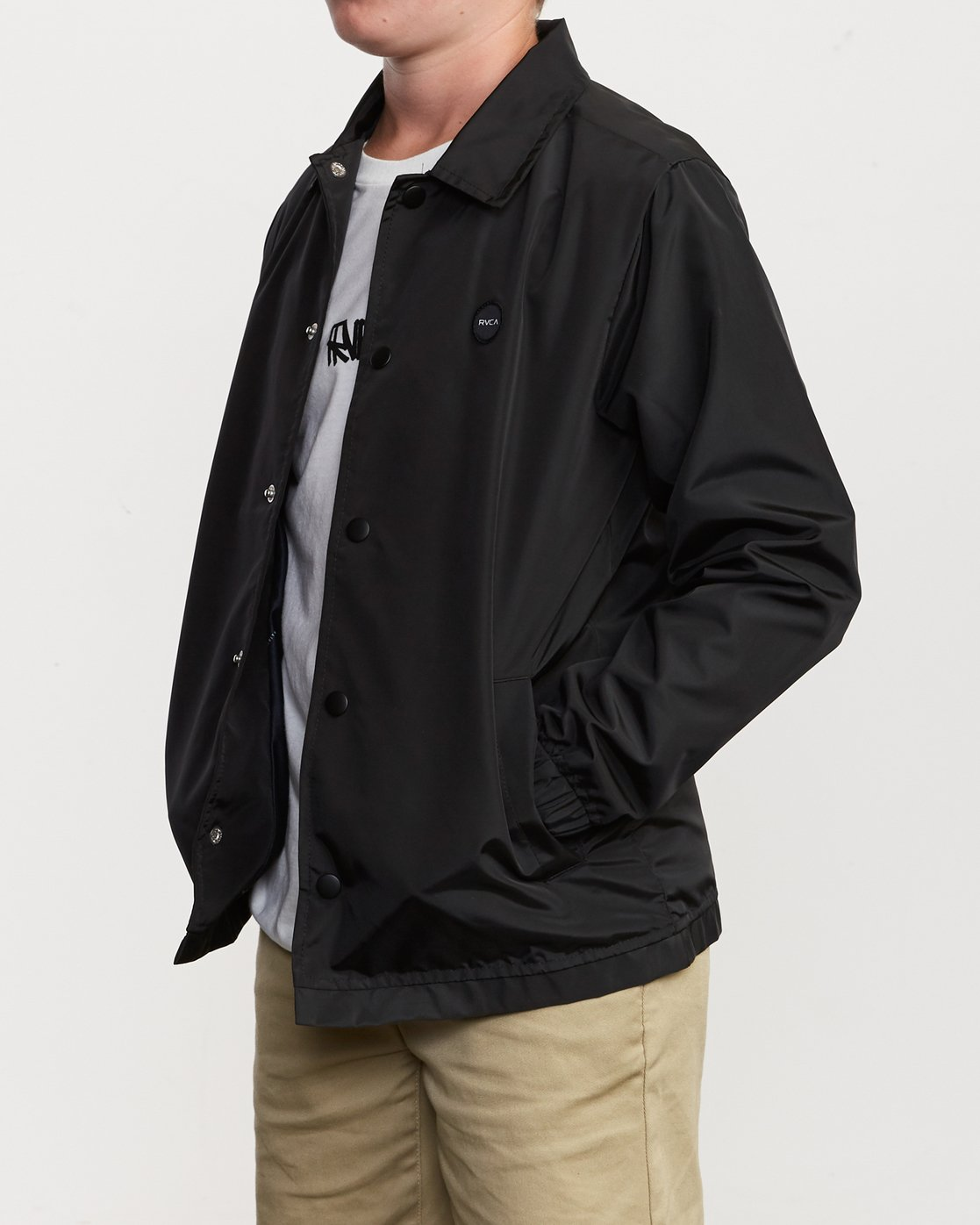 3 Boy's Berni Coaches Jacket Black B721VRBE RVCA