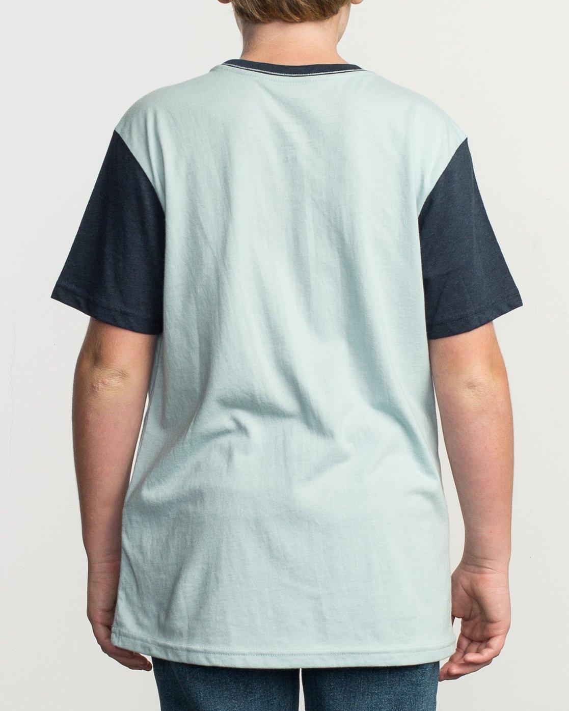 3 Boy's Pick Up II Knit Shirt Blue B902QRPU RVCA