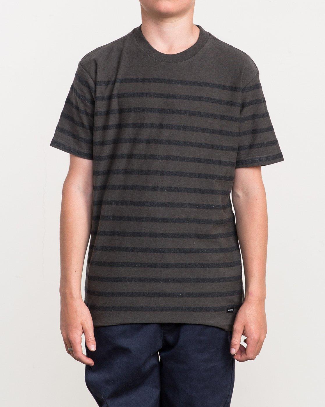 1 Boy's Dean Stripe Knit Shirt Black B904QRDS RVCA