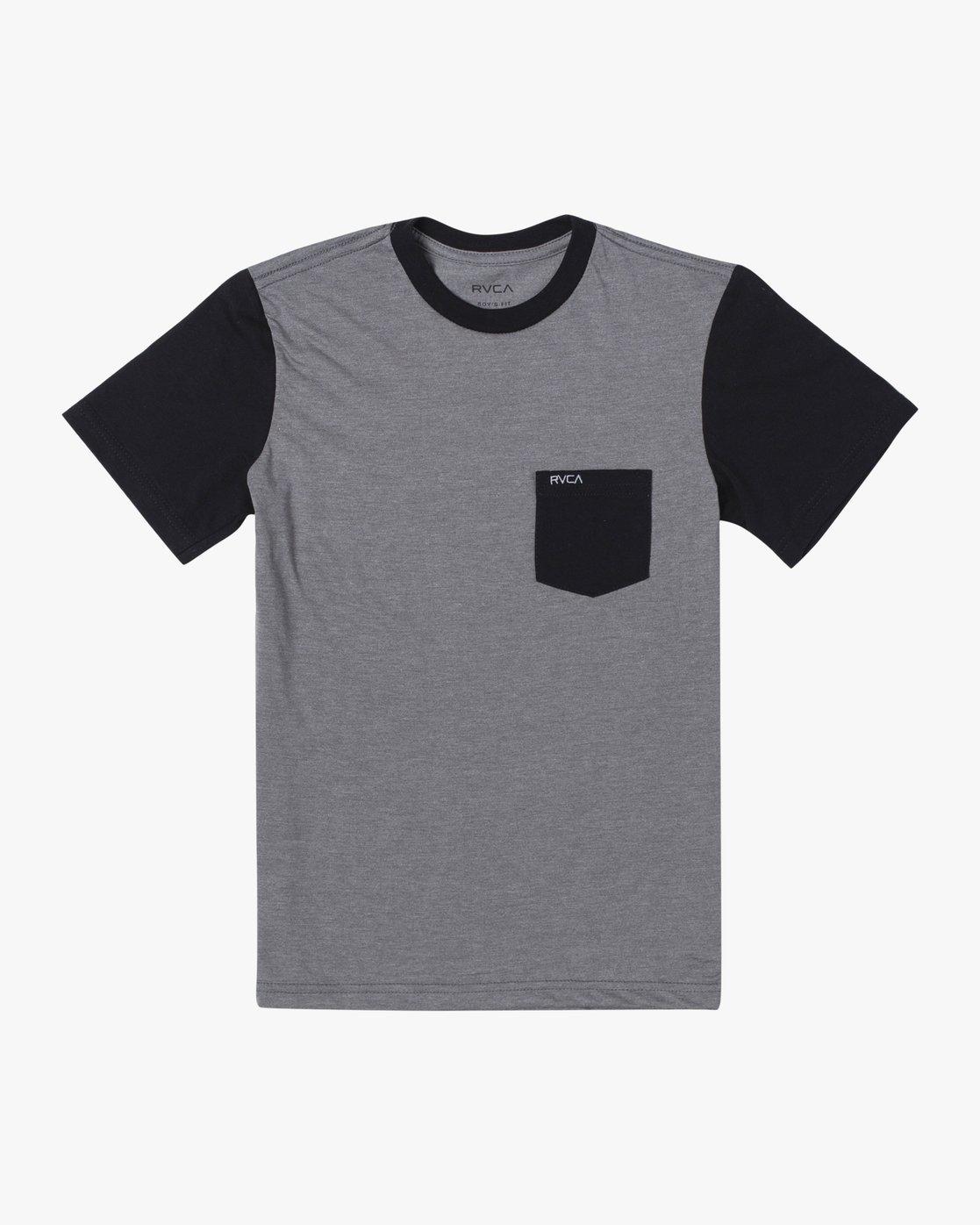 0 Boy's Ollie Color Block T-Shirt Green B905UROL RVCA