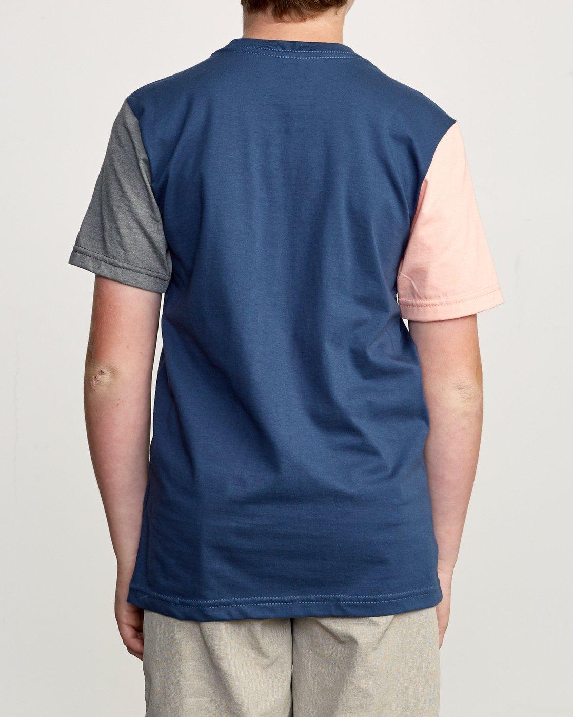 2 Boy's Ollie Color Block T-Shirt Blue B905UROL RVCA