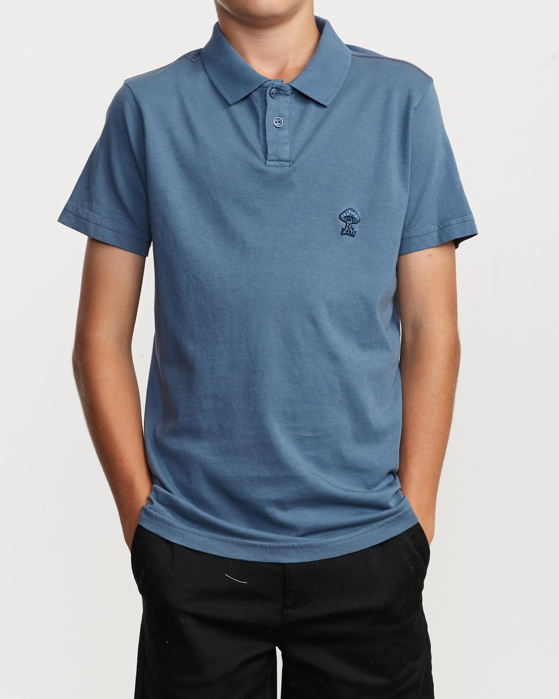 1 Boy's Delancy Polo Shirt Red B908VRPP RVCA