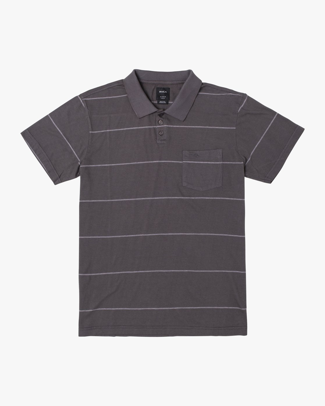 1 BOYS PTC STRIPE POLO SHIRT Black B9092RPS RVCA