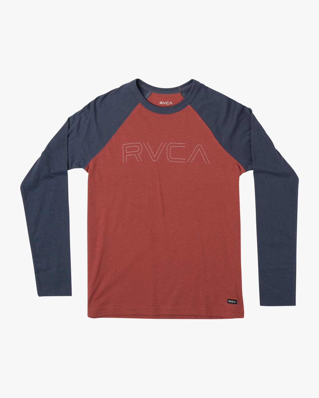 0 Boy's Vale Raglan Long Sleeve T-Shirt Brown B911VRVA RVCA