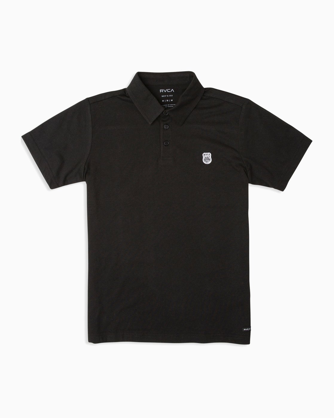 0 Boy's Sure Thing ANP Polo Shirt Black B915TRSU RVCA