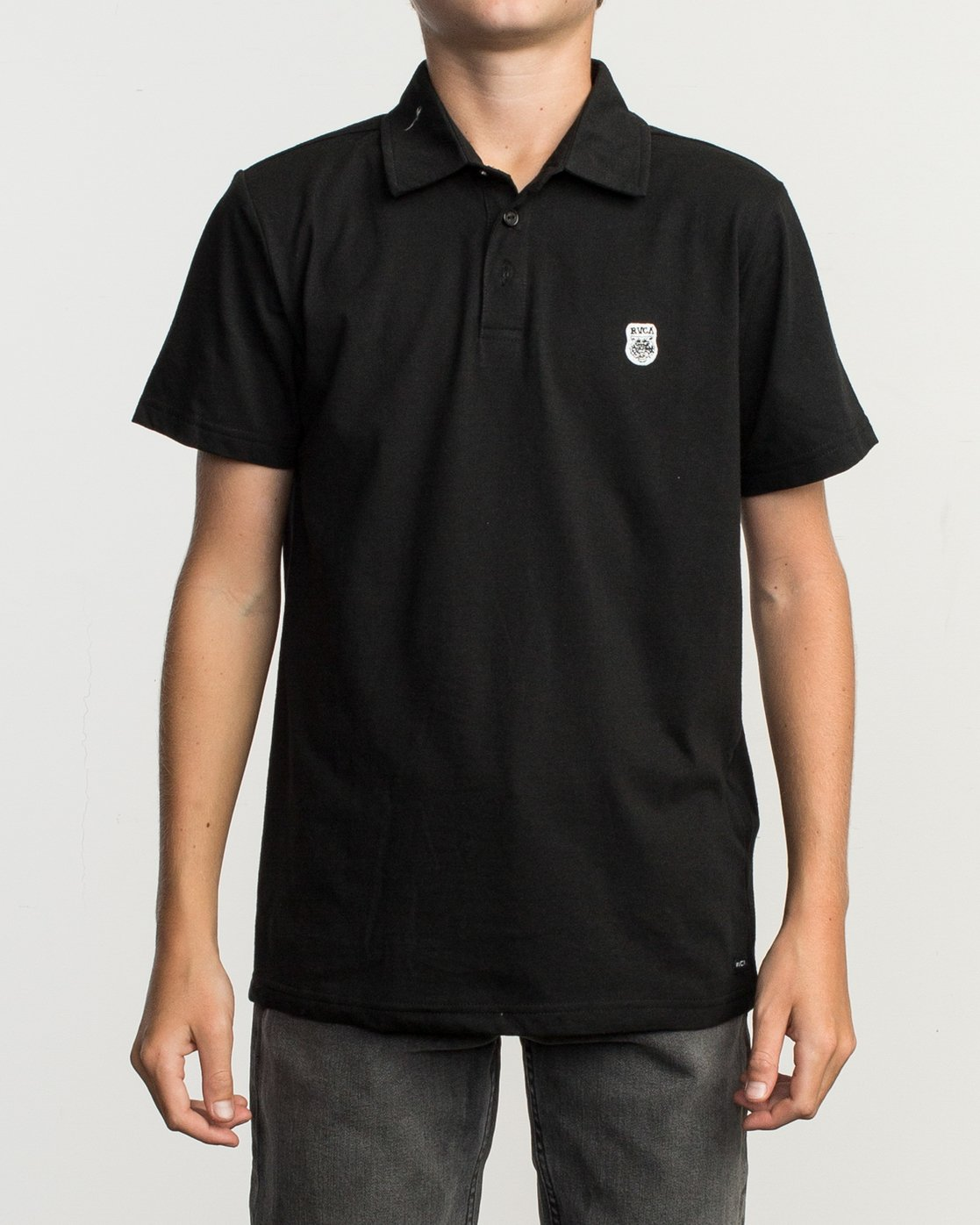 1 Boy's Sure Thing ANP Polo Shirt Black B915TRSU RVCA